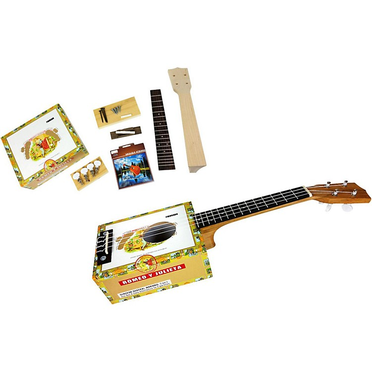 C.B. Gitty Cigar Box Ukulele Kit Natural