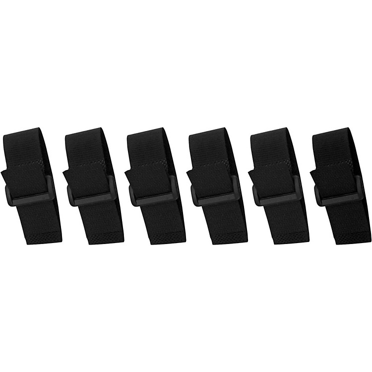 Musician's Gear Cinch Style Cable Straps (6 Pack) Black 8 in.
