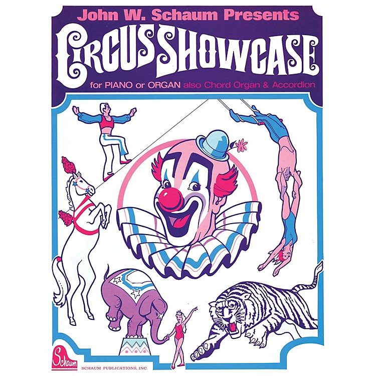 SCHAUMCircus Showcase Educational Piano Series Softcover