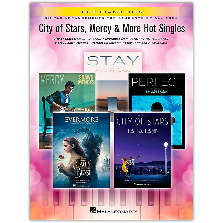 Hal LeonardCity of Stars, Mercy & More Hot Singles Pop Piano Hits Series Softcover Performed by Various