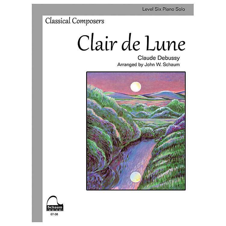 SCHAUMClair de Lune (Schaum Level Six Piano Solo) Educational Piano Book by Claude Debussy