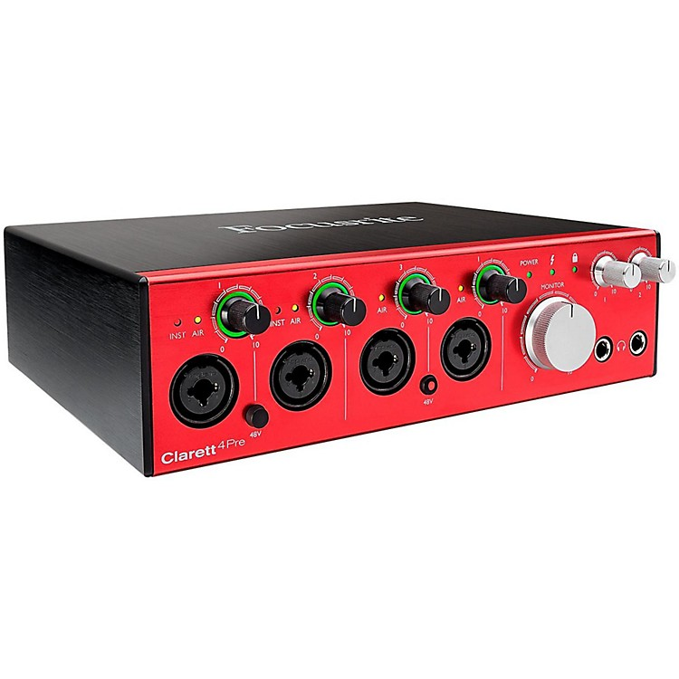 Focusrite Clarett 4Pre Thunderbolt Audio Interface