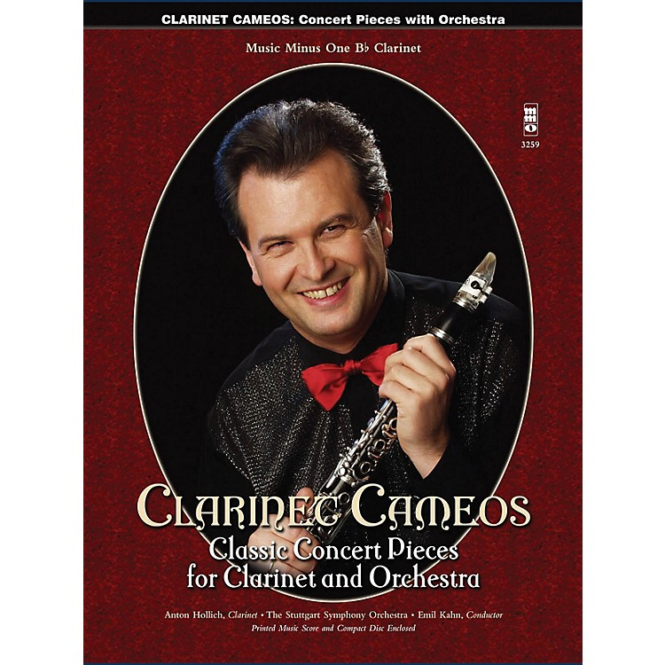 Music Minus OneClarinet Cameos - Classic Concert Pieces for Clarinet and Orchestra Music Minus One BK/CD