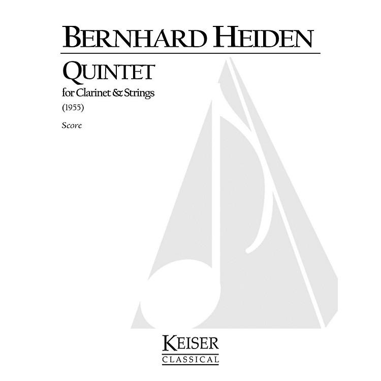 Lauren Keiser Music PublishingClarinet Quintet LKM Music Series Composed by Bernhard Heiden