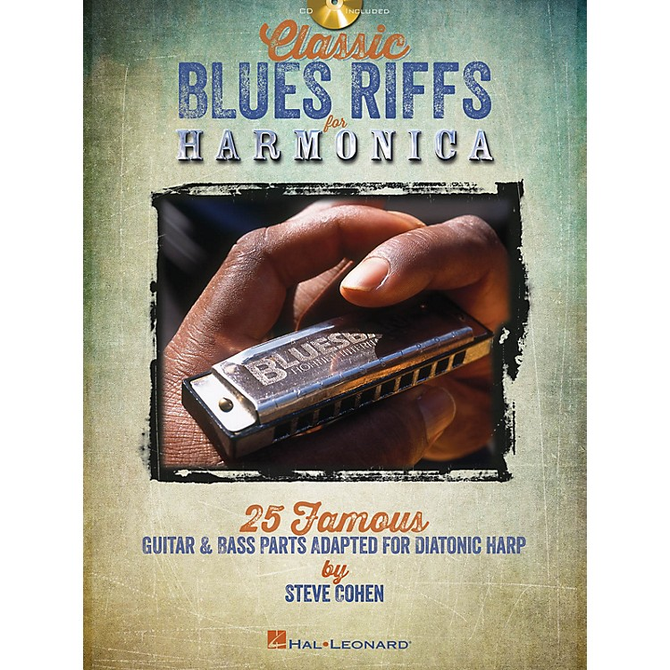 Hal LeonardClassic Blues Riffs for Harmonica Harmonica Series Softcover with CD Written by Steve Cohen
