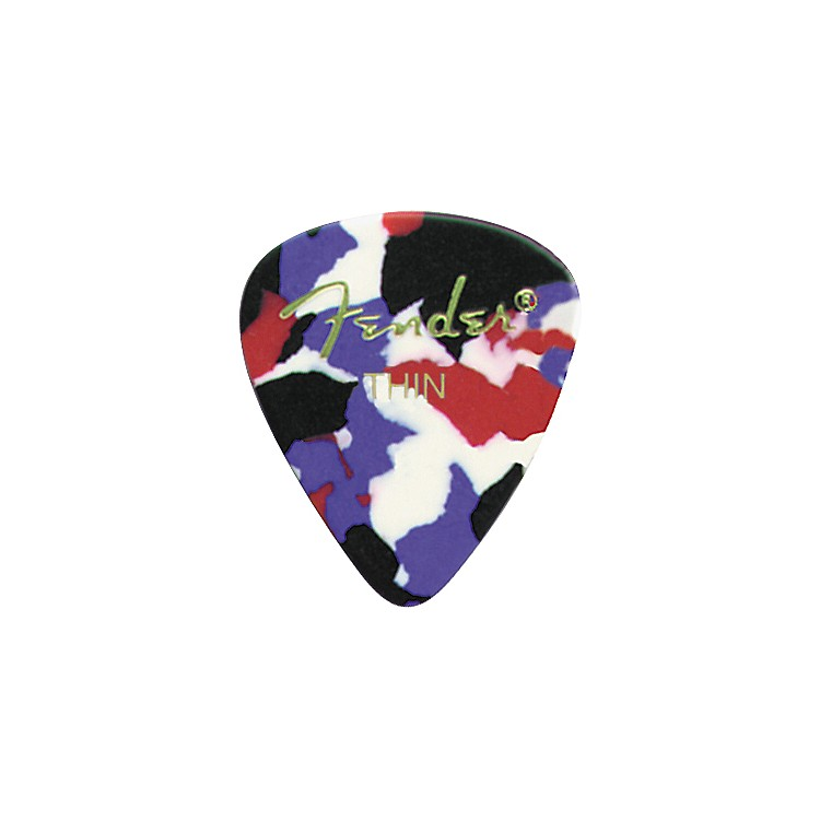 FenderClassic Celluloid Confetti Guitar Pick 12-PackThin1 Dozen