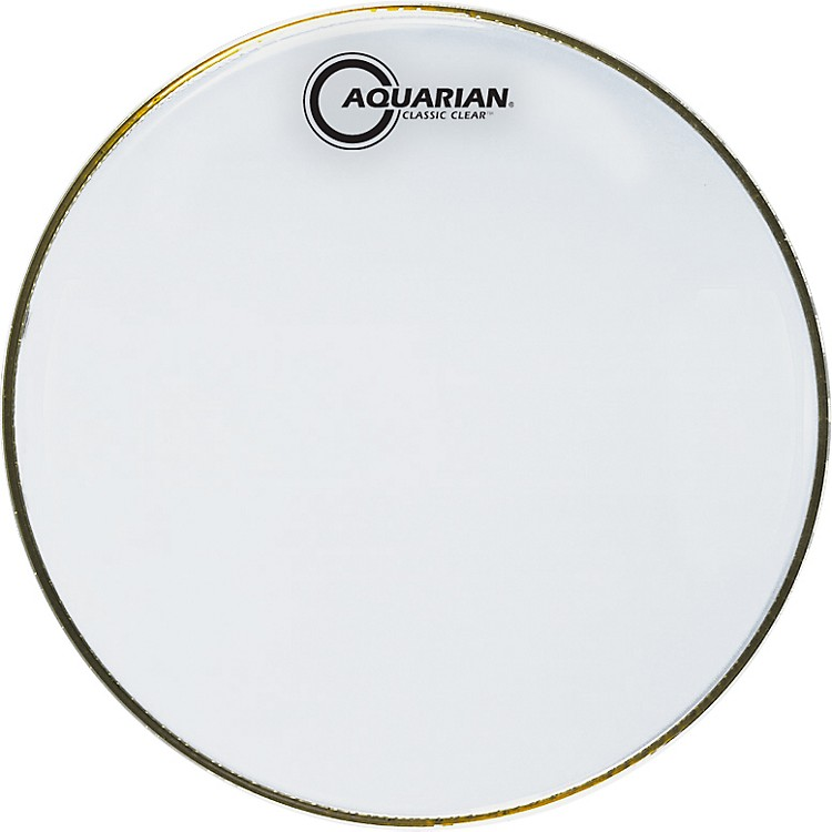 AquarianClassic Clear DrumheadBlack12 in.