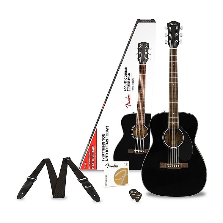 FenderClassic Design Series CC-60S Concert Acoustic Guitar PackBlack