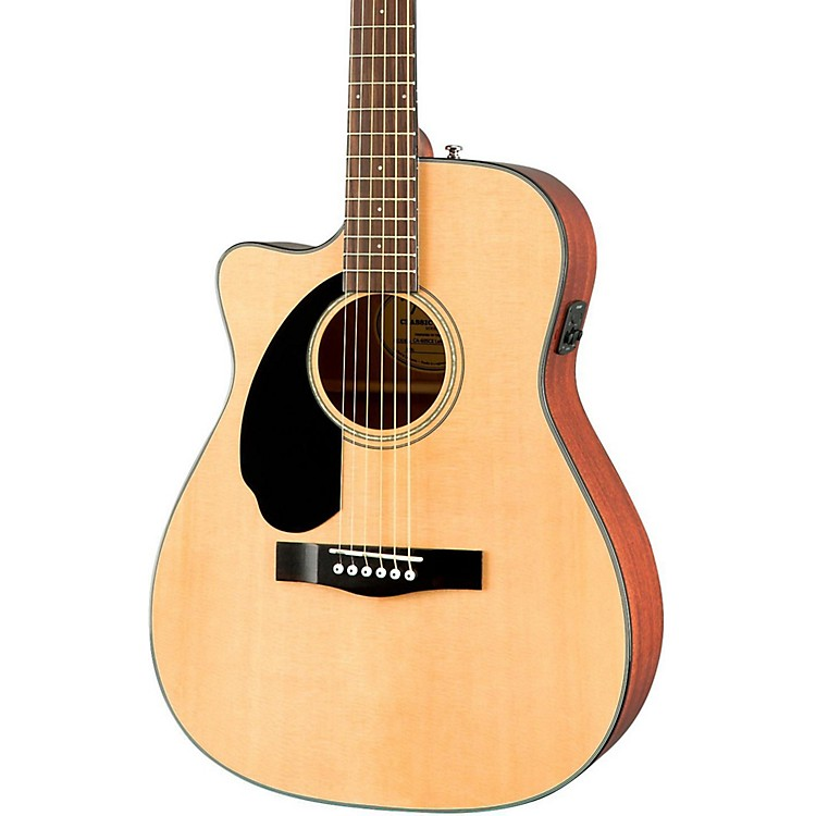FenderClassic Design Series CC-60SCE Cutaway Concert Left-Handed Acoustic-Electric GuitarNatural