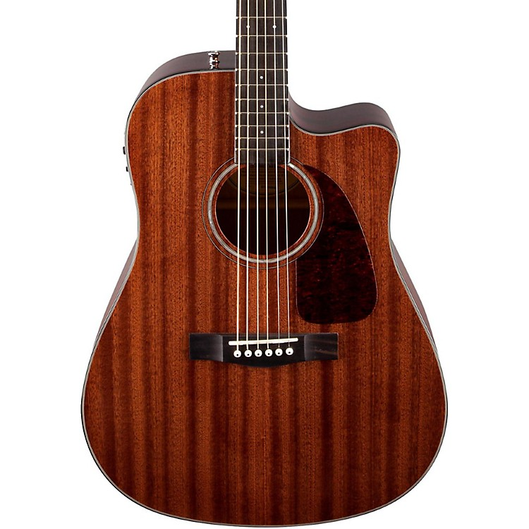Fender Classic Design Series CD-140SCE All-Mahogany Cutaway Dreadnought Acoustic-Electric Guitar Natural