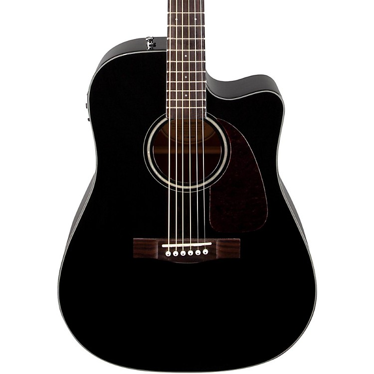 FenderClassic Design Series CD-140SCE Cutaway Dreadnought Acoustic-Electric GuitarBlack