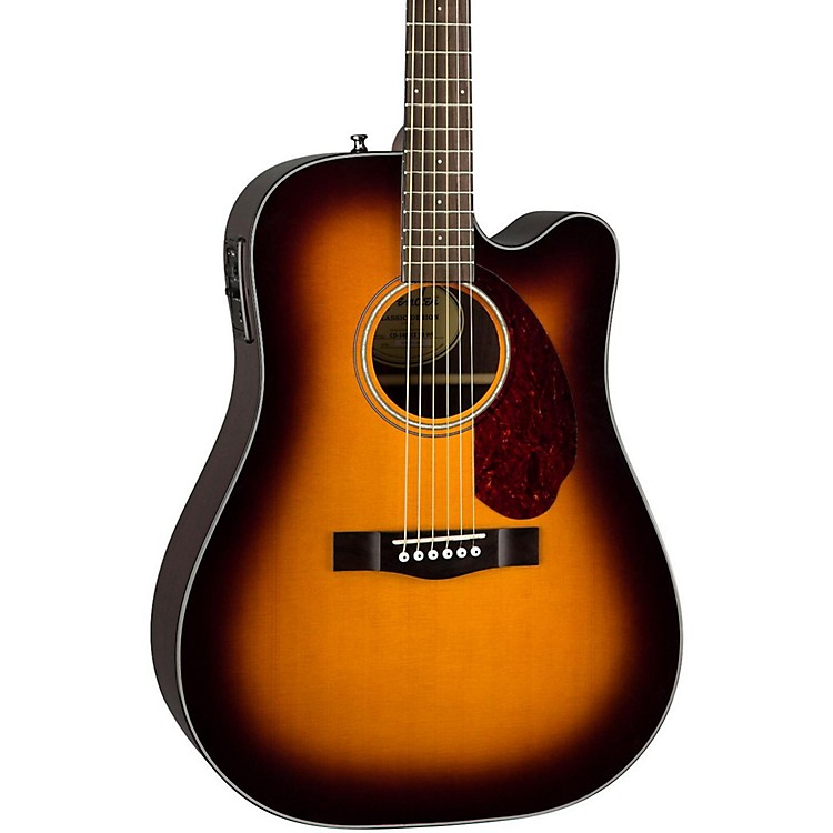 Fender Classic Design Series CD-140SCE Cutaway Dreadnought Acoustic-Electric Guitar Sunburst