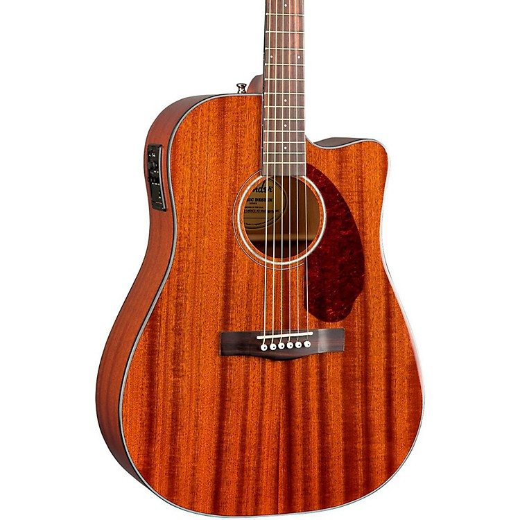 Fender Classic Design Series CD-140SCE Mahogany Cutaway Dreadnought Acoustic-Electric Guitar Natural