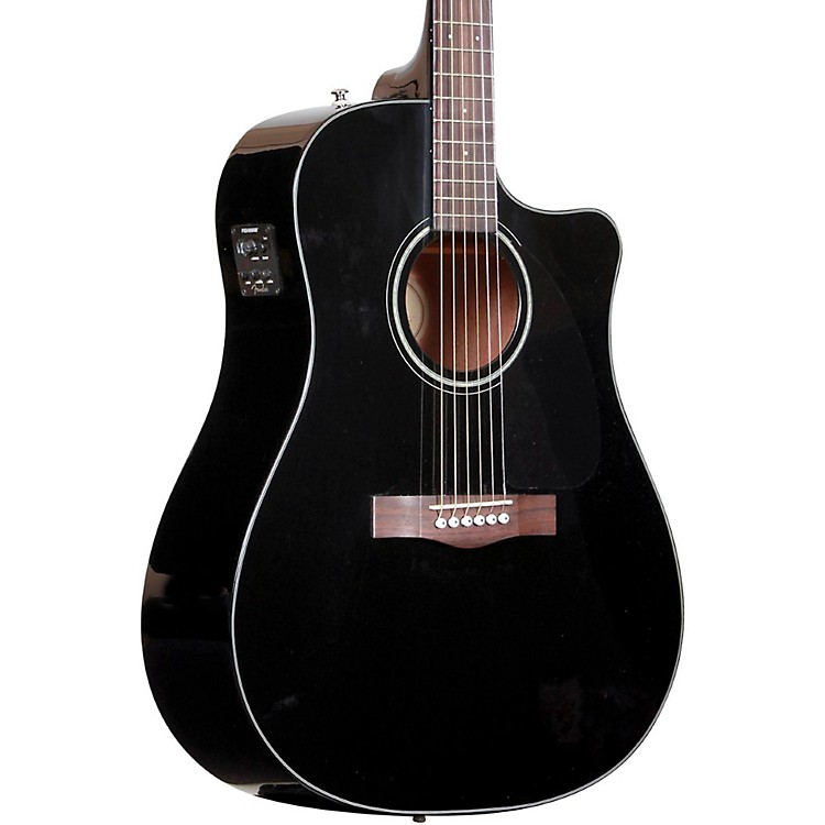 Fender Classic Design Series CD-60CE Cutaway Dreadnought Acoustic-Electric Guitar Black