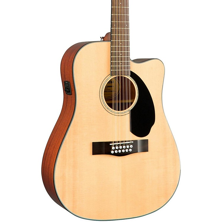 FenderClassic Design Series CD-60SCE-12 Cutaway Dreadnought 12-String Acoustic-Electric GuitarNatural