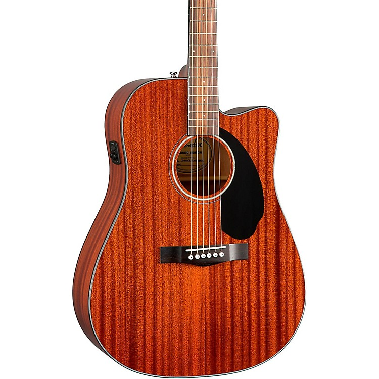 Fender Classic Design Series CD-60SCE All-Mahogany Cutaway Dreadnought Acoustic-Electric Guitar Natural