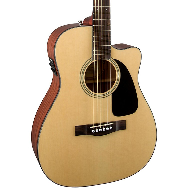 Acoustic And Electric Designs: Fender Classic Design Series CF-60CE Cutaway Folk Acoustic
