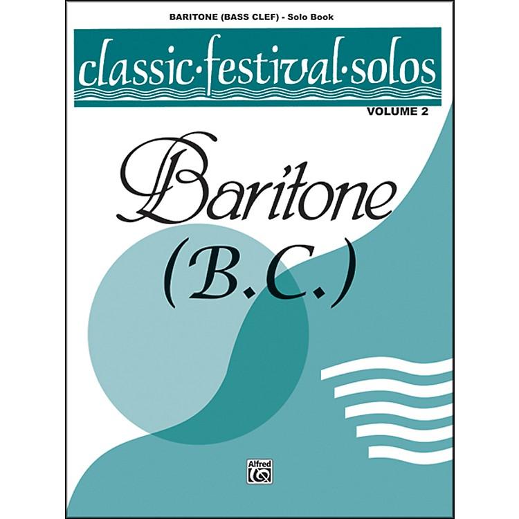 AlfredClassic Festival Solos (Baritone B.C.) Volume 2 Solo Book
