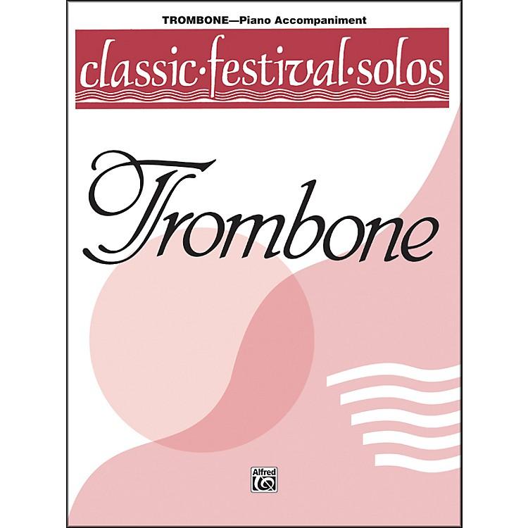 AlfredClassic Festival Solos (Trombone) Volume 1 Piano Acc.