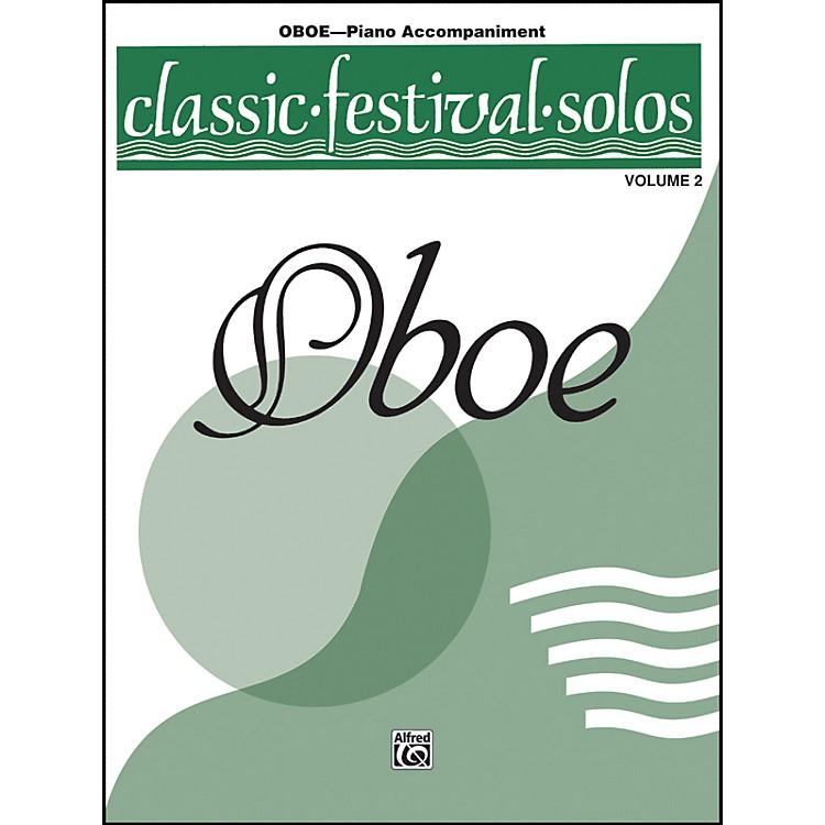 AlfredClassic Festival Solos for Oboe, Volume II Piano Acc. Book