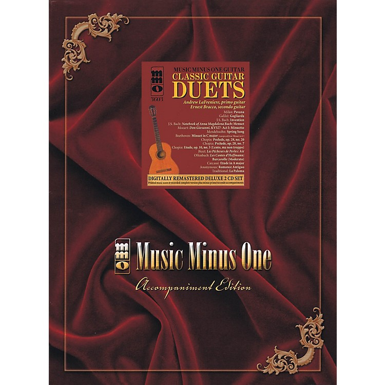 Music Minus OneClassic Guitar Duets (Deluxe 2-CD Set) Music Minus One Series Softcover with CD