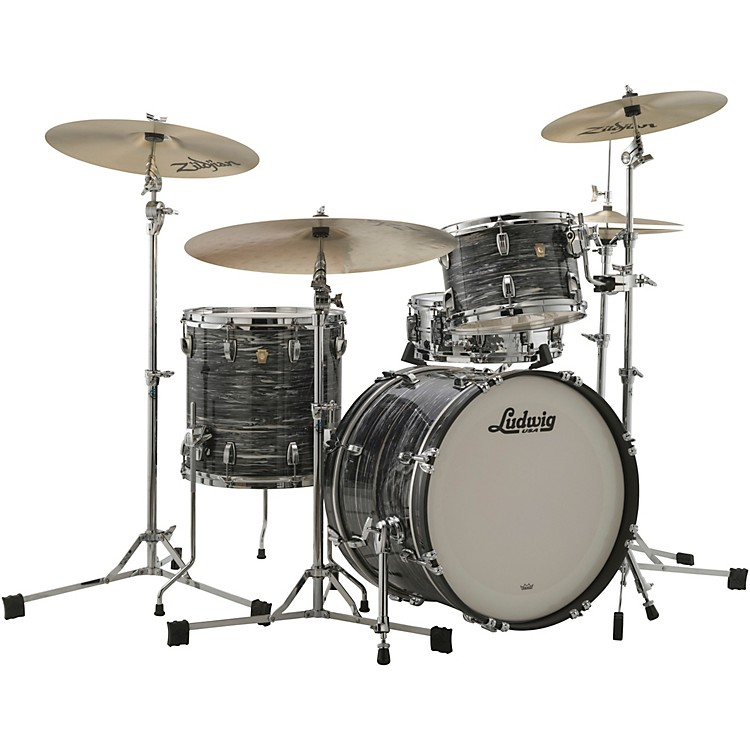 LudwigClassic Maple 3-Piece Downbeat Shell Pack with 20 in. Bass DrumGreen Sparkle
