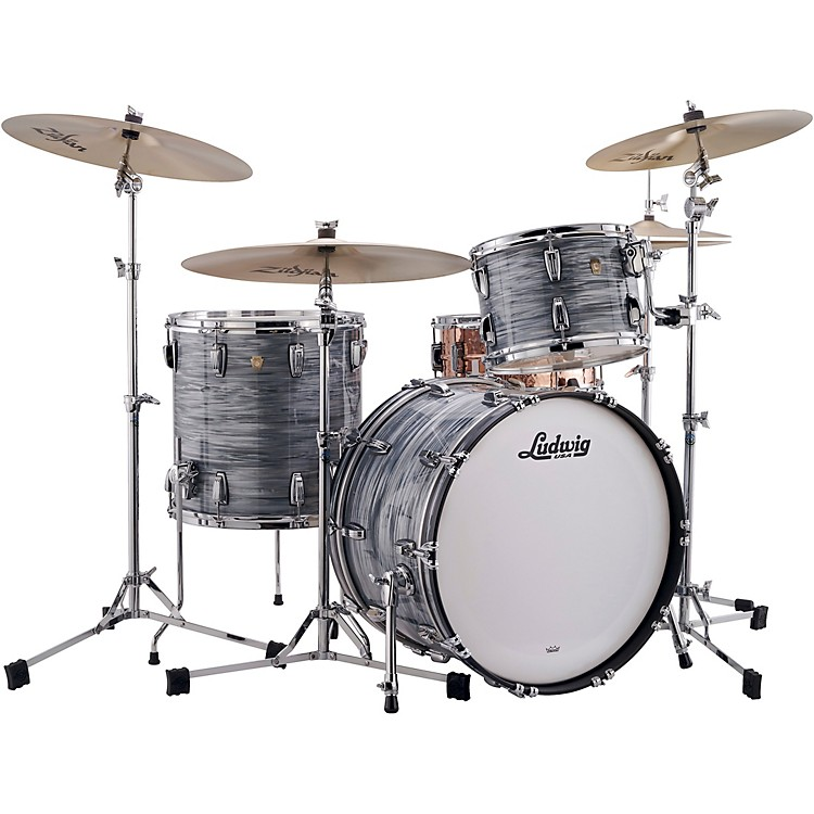 Ludwig Classic Maple 3-Piece Fab Shell Pack with 22 in. Bass Drum White Marine Pearl