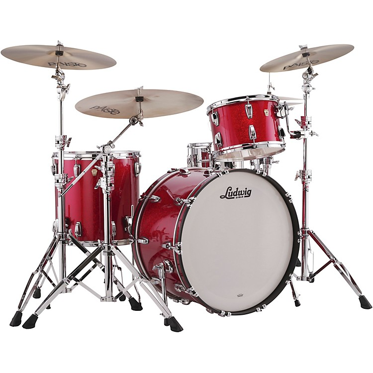 LudwigClassic Maple 3-Piece Pro Beat Shell Pack with 24 in. Bass DrumRed Sparkle