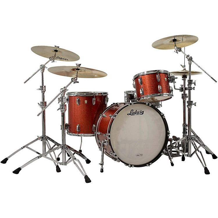 Ludwig Classic Maple 3-Piece Shell Pack Red Sparkle