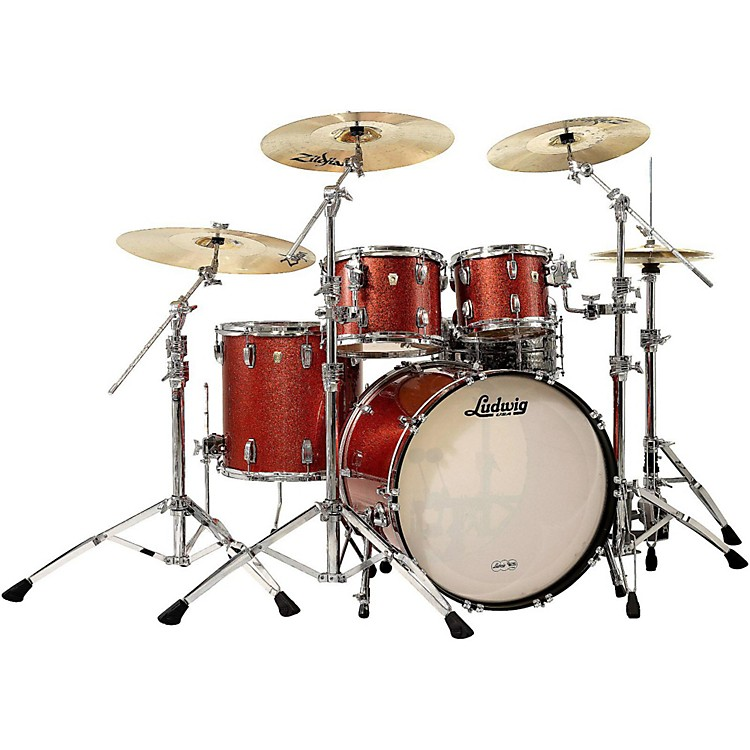 Ludwig Classic Maple 4-Piece Shell Pack Red Sparkle