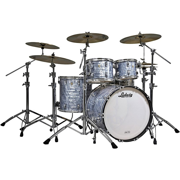 Ludwig Classic Maple 4-Piece Shell Pack Sky Blue Pearl