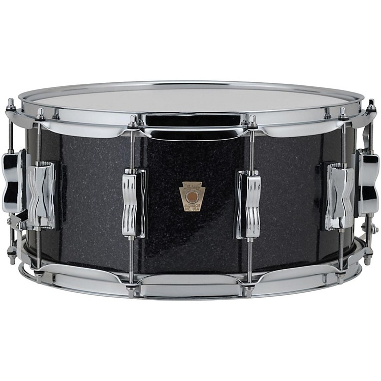 LudwigClassic Maple Snare Drum14 x 6.5 in.Black Sparkle