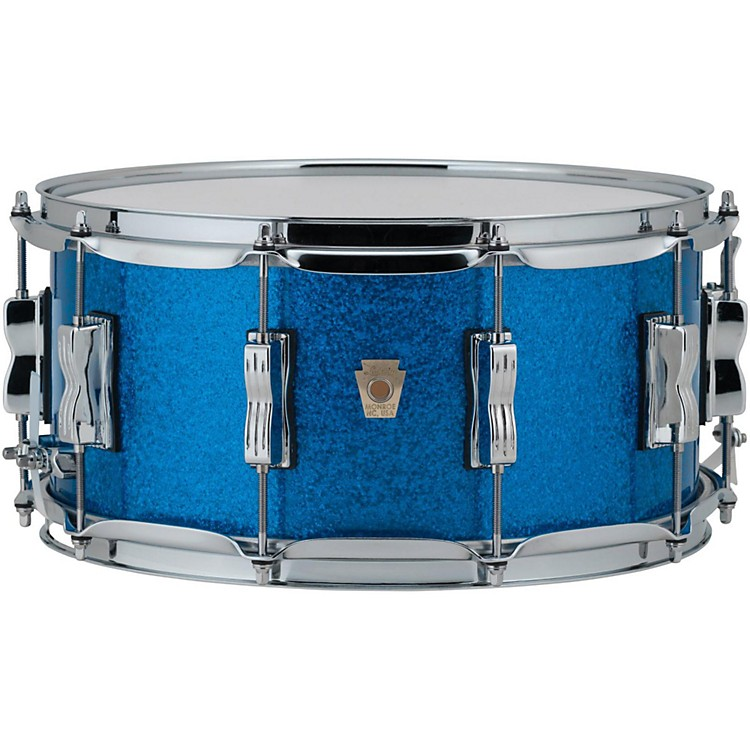 Ludwig Classic Maple Snare Drum 14 x 6.5 in. Blue Sparkle