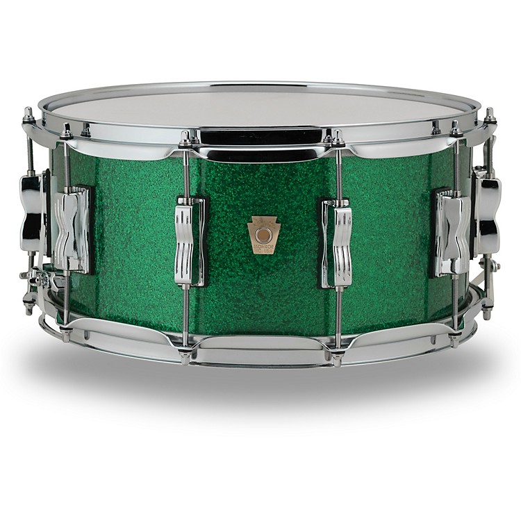 LudwigClassic Maple Snare Drum14 x 6.5 in.Green Sparkle