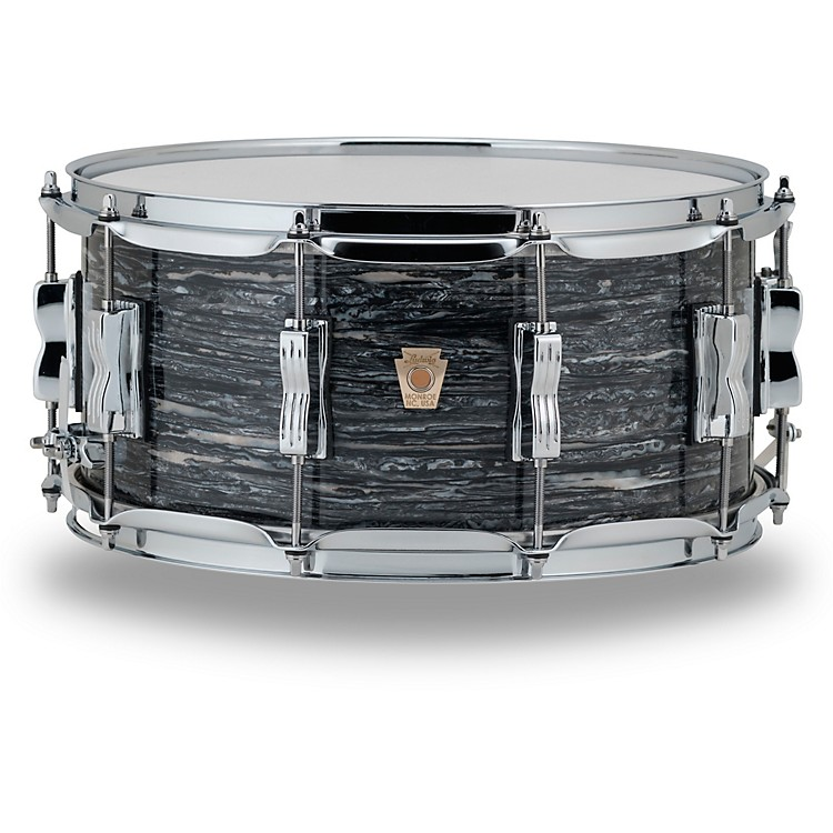 LudwigClassic Maple Snare Drum14 x 6.5 in.Vintage Black Oyster Pearl
