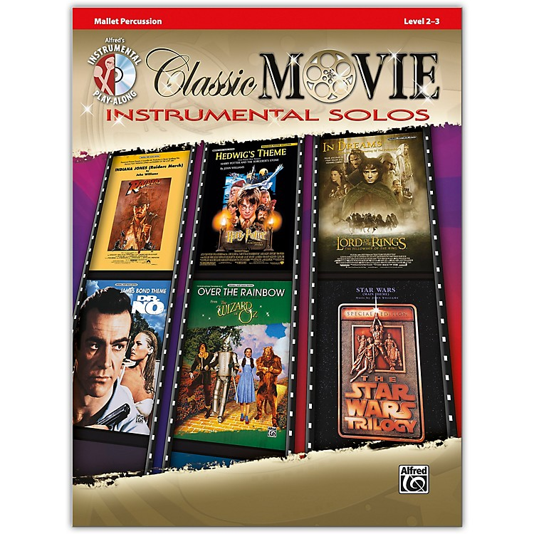 AlfredClassic Movie Instrumental Solos Mallet Book & CD Level 2-3