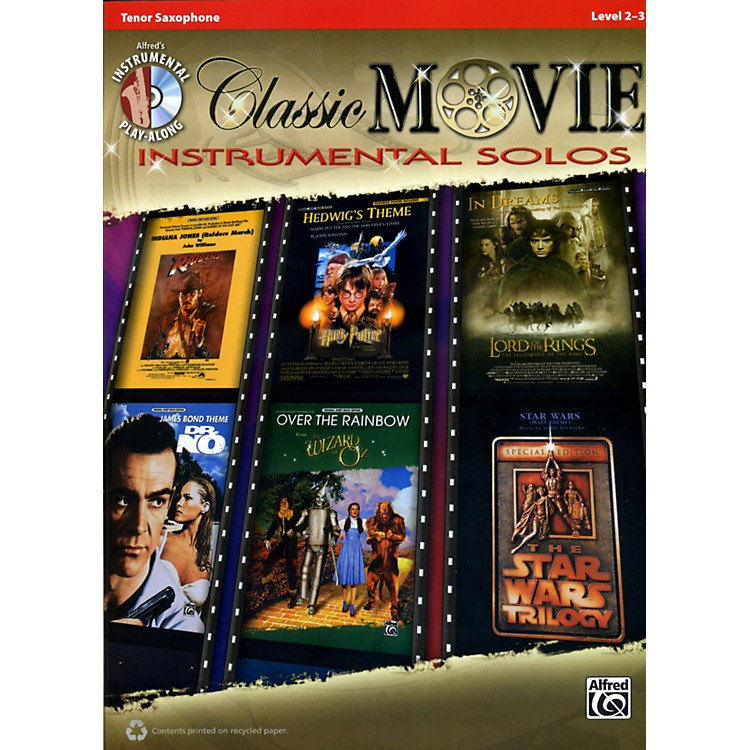 AlfredClassic Movie Instrumental Solos Tenor Sax Play Along Book/CD