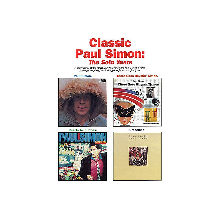 Music SalesClassic Paul Simon - The Solo Years Music Sales America Series Softcover Performed by Paul Simon