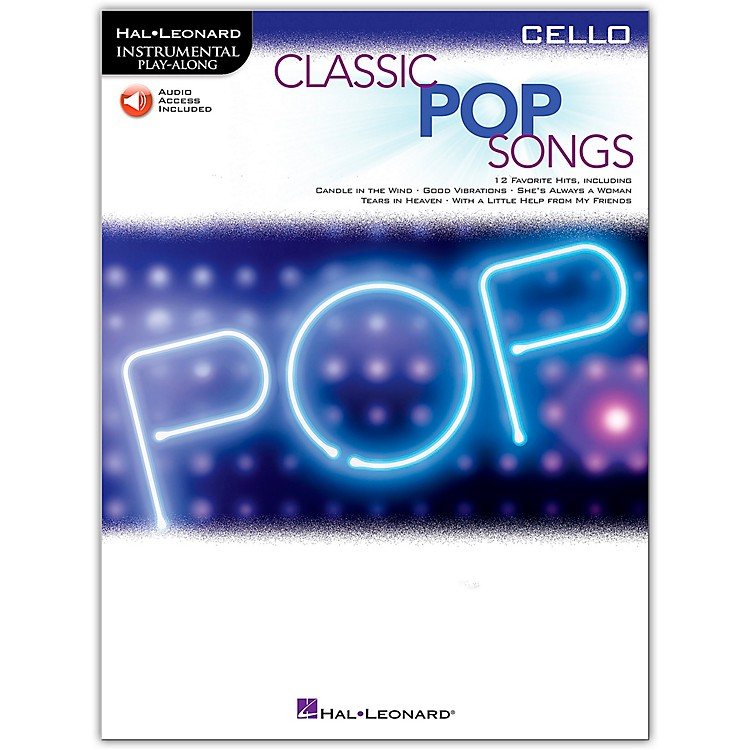 Hal LeonardClassic Pop Songs For Cello - Instrumental Play-Along Book/Audio Online