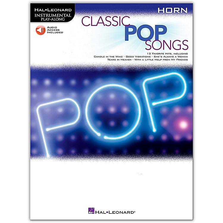 Hal LeonardClassic Pop Songs For Horn - Instrumental Play-Along Book/Audio Online