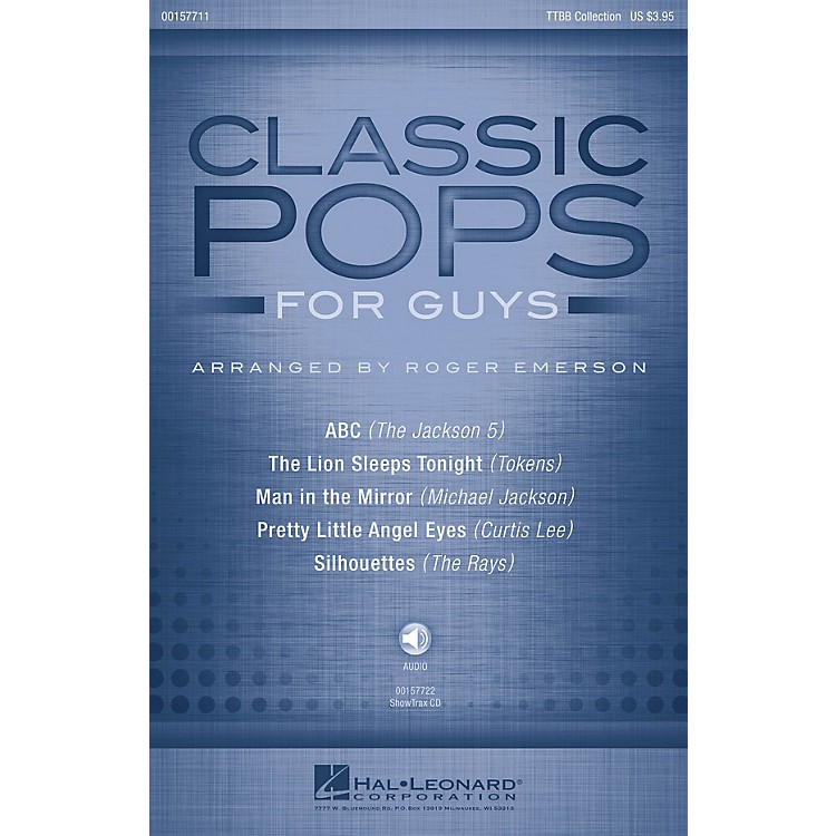 Hal Leonard Classic Pops for Guys (Collection) TTBB arranged by Roger Emerson