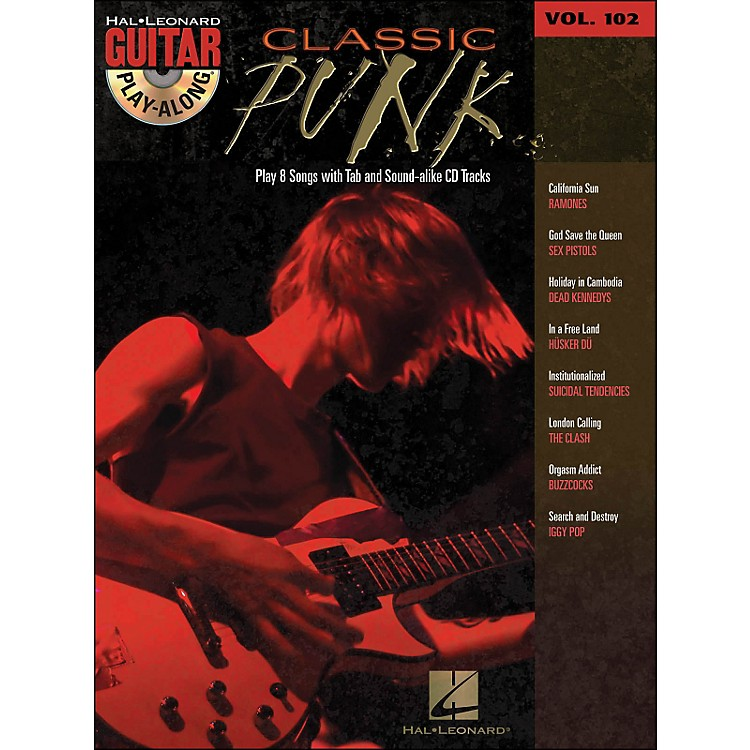 Hal Leonard Classic Punk Guitar Play- Along Volume 102 Book/CD