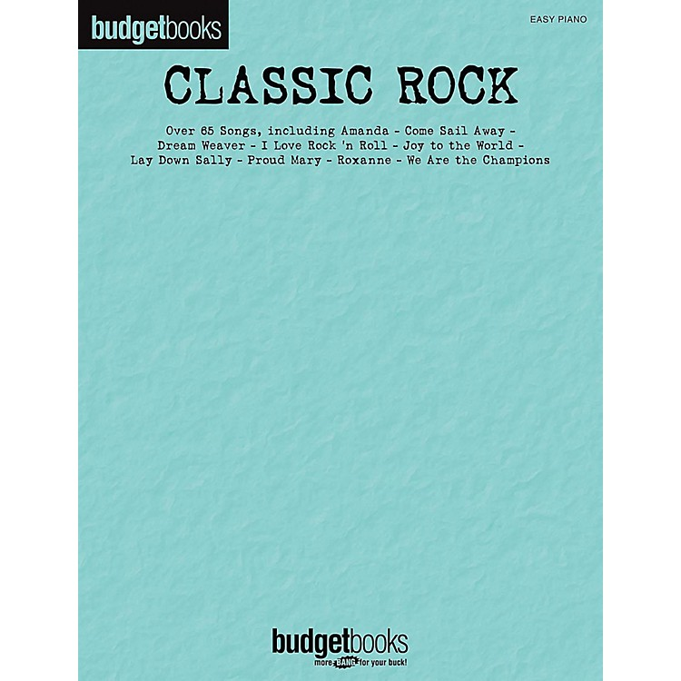 Hal Leonard Classic Rock - Budget Books for Easy Piano