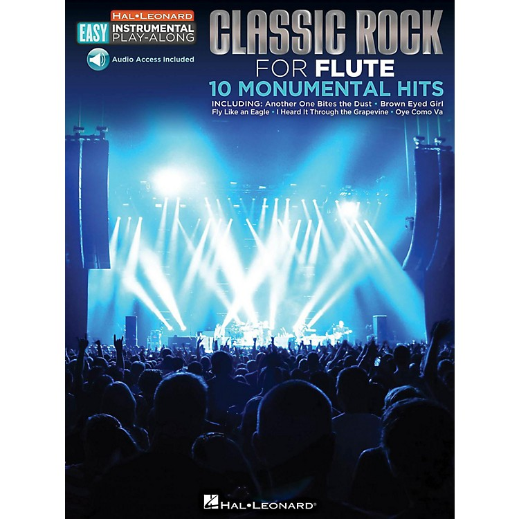 Hal Leonard Classic Rock - Flute - Easy Instrumental Play-Along Book with Online Audio Tracks