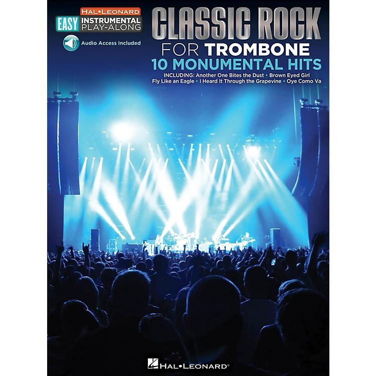 Hal LeonardClassic Rock - Trombone - Easy Instrumental Play-Along Book with Online Audio Tracks