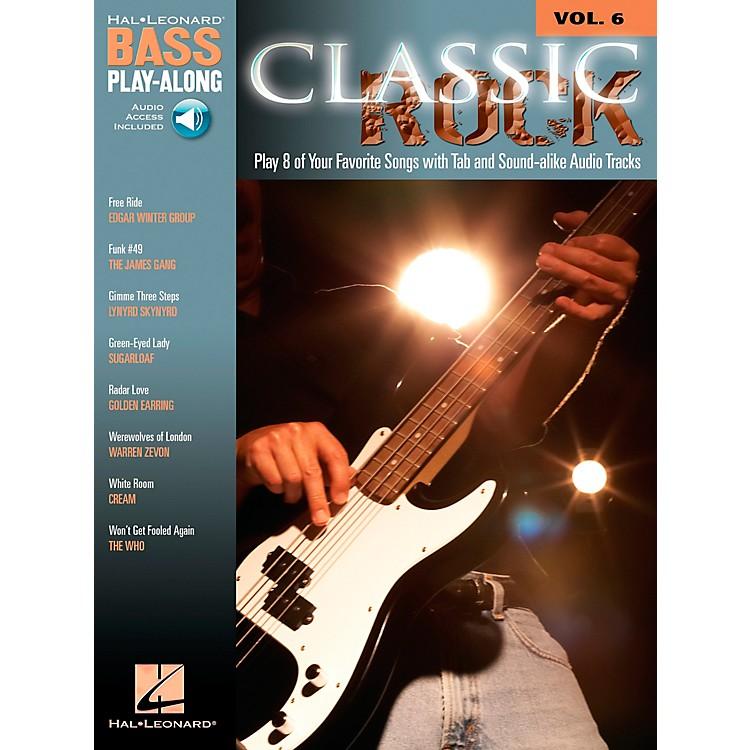 Hal LeonardClassic Rock Bass Guitar Play-Along Series Volume 6 Tab (Songbook/Online Audio)