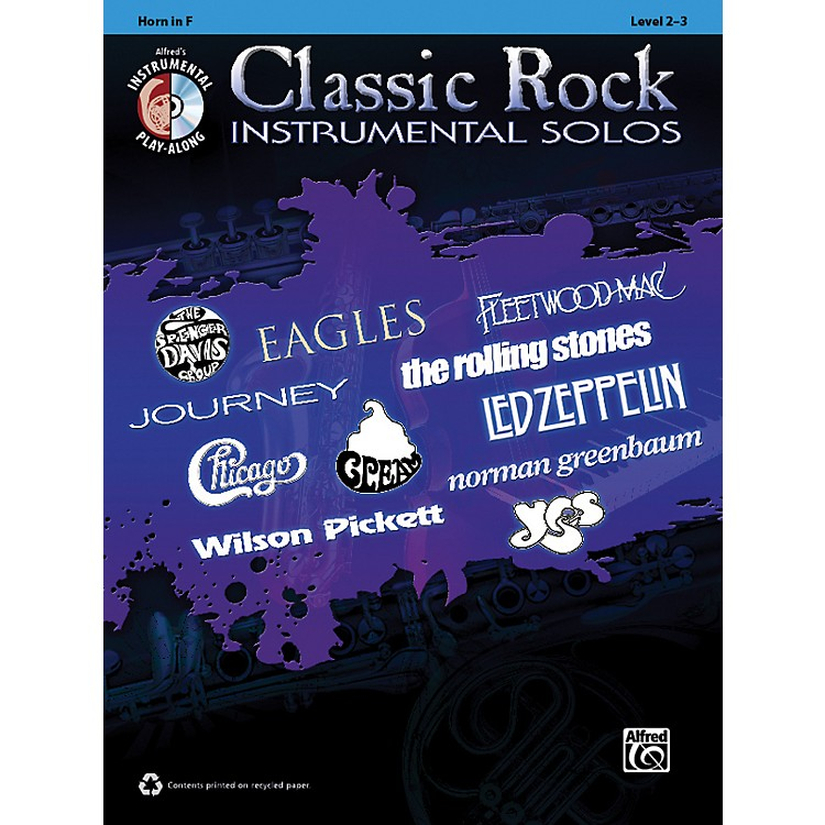 AlfredClassic Rock Instrumental Solos Horn in F Book & CD