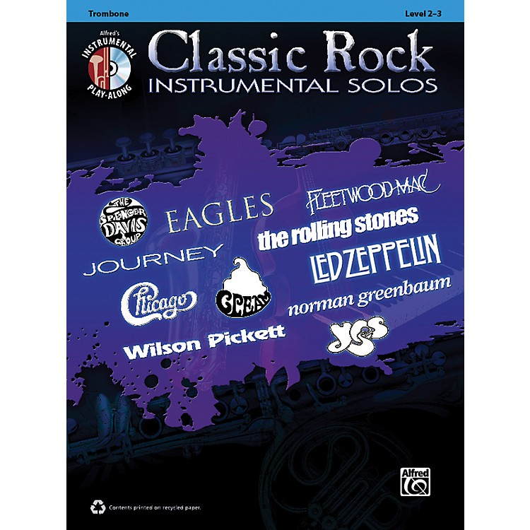 AlfredClassic Rock Instrumental Solos Trombone Book & CD