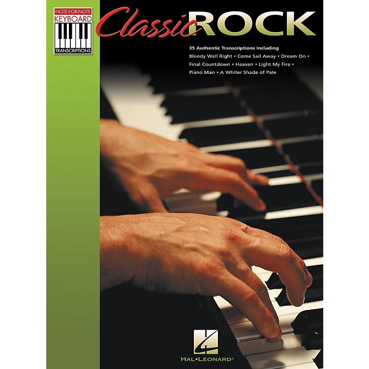 Hal LeonardClassic Rock Note for Note Keyboard Songbook