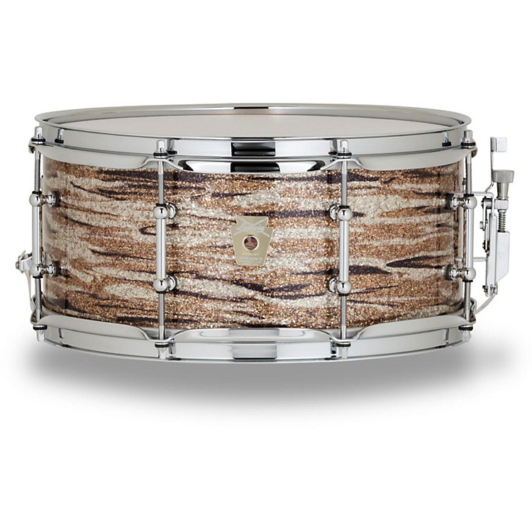 Ludwig Classic Series Hybrid with Oak Shell Snare Drum 13 x 6 in. Brass Oyster Glass